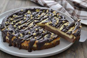 torta cremosa al mascarpone e cioccolato fondente