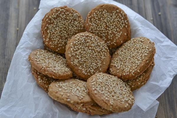 biscotti integrali ai ceci e sesamo senza burro