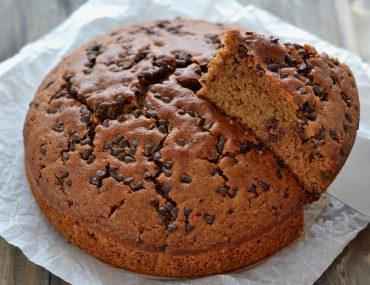 torta integrale con gocce di cioccolato