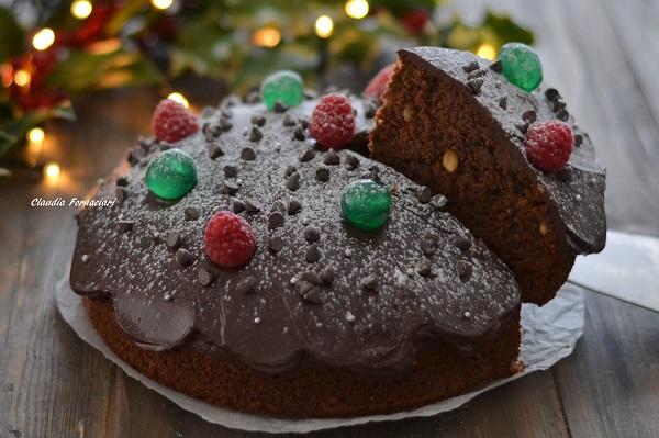 torta di natale al cacao e cioccolato