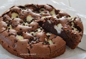 torta tenerina con la ricotta e cioccolato fondente